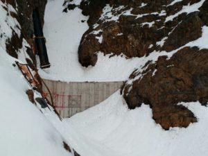 Reparación muro curvo bocatoma Morado